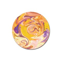 Yellow Marble Magnet 3  (round)
