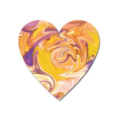 Yellow Marble Heart Magnet
