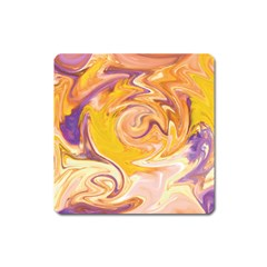 Yellow Marble Square Magnet