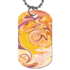 Yellow Marble Dog Tag (one Side)