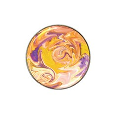 Yellow Marble Hat Clip Ball Marker (10 Pack)