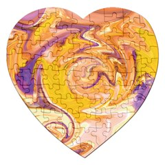 Yellow Marble Jigsaw Puzzle (heart)
