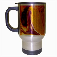 Yellow Marble Travel Mug (silver Gray)
