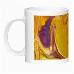 Yellow Marble Night Luminous Mugs