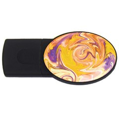 Yellow Marble Usb Flash Drive Oval (4 Gb)