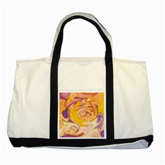 Yellow Marble Two Tone Tote Bag