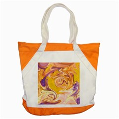 Yellow Marble Accent Tote Bag