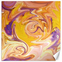 Yellow Marble Canvas 20  X 20