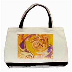 Yellow Marble Basic Tote Bag (two Sides)