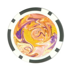 Yellow Marble Poker Chip Card Guard