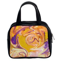 Yellow Marble Classic Handbags (2 Sides)