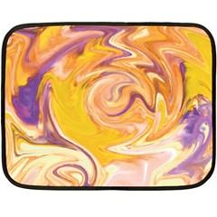 Yellow Marble Double Sided Fleece Blanket (mini)