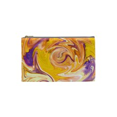 Yellow Marble Cosmetic Bag (small)