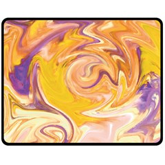 Yellow Marble Fleece Blanket (Medium)