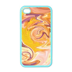 Yellow Marble Apple iPhone 4 Case (Color)