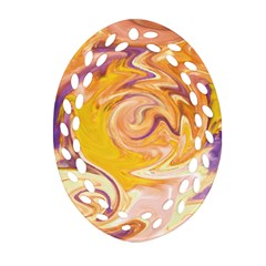 Yellow Marble Ornament (oval Filigree)