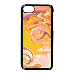 Yellow Marble Apple Iphone 7 Seamless Case (black)