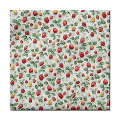 Strawberry pattern Tile Coasters