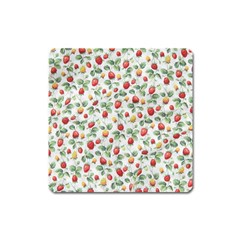 Strawberry pattern Square Magnet