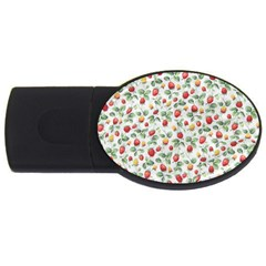Strawberry pattern USB Flash Drive Oval (2 GB)