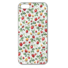 Strawberry pattern Apple Seamless iPhone 5 Case (Clear)