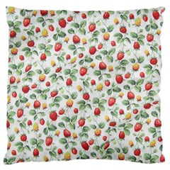 Strawberry pattern Large Flano Cushion Case (Two Sides)