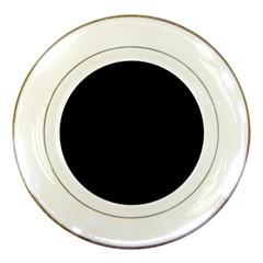 Black Porcelain Plates