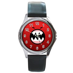 Funny Angry Round Metal Watch