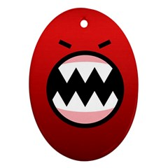 Funny Angry Ornament (Oval)