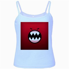 Funny Angry Baby Blue Spaghetti Tank