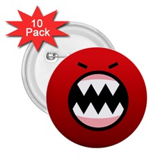 Funny Angry 2.25  Buttons (10 pack)