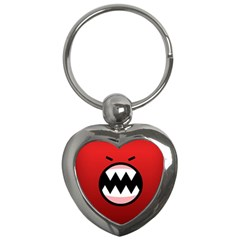 Funny Angry Key Chains (Heart)