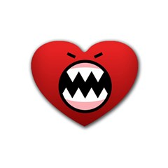 Funny Angry Rubber Coaster (Heart)