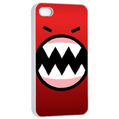 Funny Angry Apple iPhone 4/4s Seamless Case (White)
