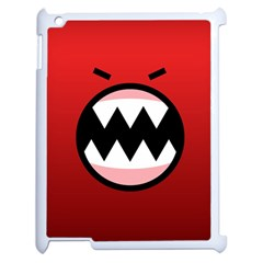 Funny Angry Apple iPad 2 Case (White)