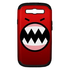Funny Angry Samsung Galaxy S III Hardshell Case (PC+Silicone)