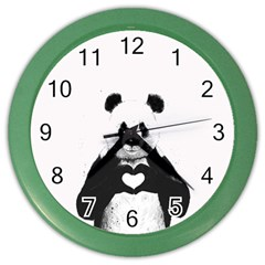 Panda Love Heart Color Wall Clocks