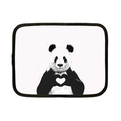 Panda Love Heart Netbook Case (Small)