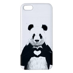Panda Love Heart iPhone 5S/ SE Premium Hardshell Case