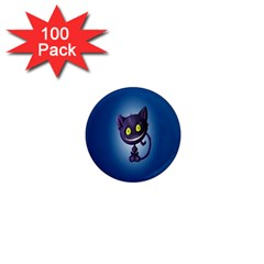 Cats Funny 1  Mini Magnets (100 pack)