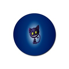 Cats Funny Rubber Round Coaster (4 pack)