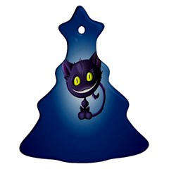 Cats Funny Christmas Tree Ornament (Two Sides)