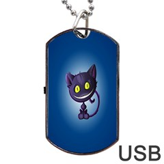 Cats Funny Dog Tag USB Flash (One Side)