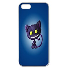 Cats Funny Apple Seamless iPhone 5 Case (Clear)
