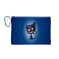 Cats Funny Canvas Cosmetic Bag (M)
