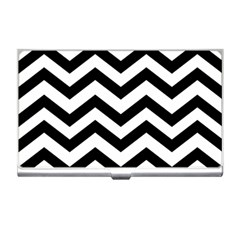 Black And White Chevron Business Card Holders