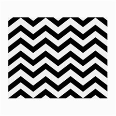 Black And White Chevron Small Glasses Cloth (2-Side)