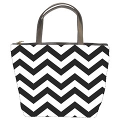 Black And White Chevron Bucket Bags