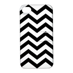 Black And White Chevron Apple iPhone 4/4S Hardshell Case with Stand