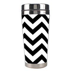 Black And White Chevron Stainless Steel Travel Tumblers